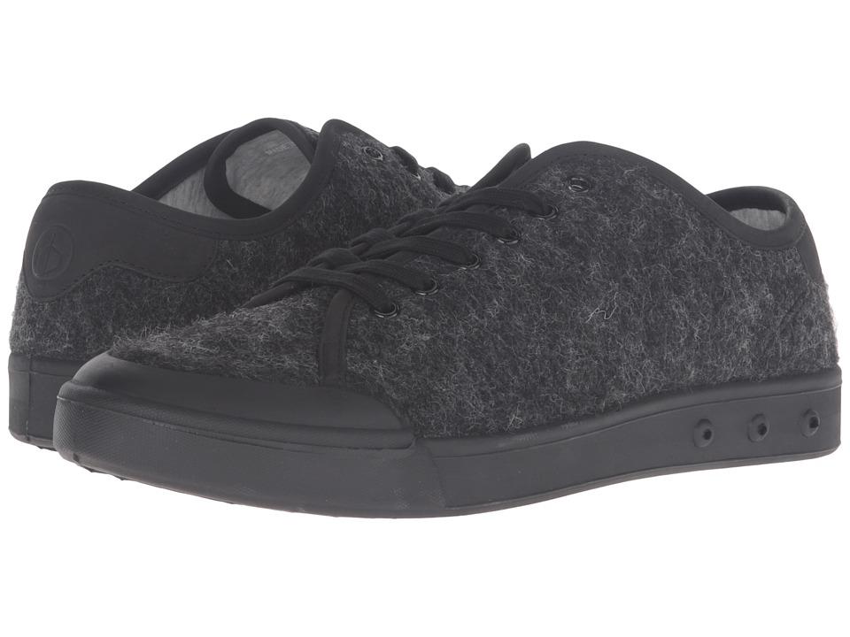 rag & bone - Standard Issue Wool Lace-Up (Black Wool) Men's Shoes
