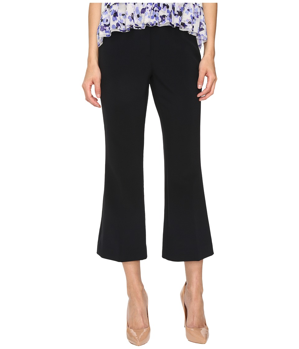 Kate Spade New York Crepe Cropped Flare Pants (Black) Women
