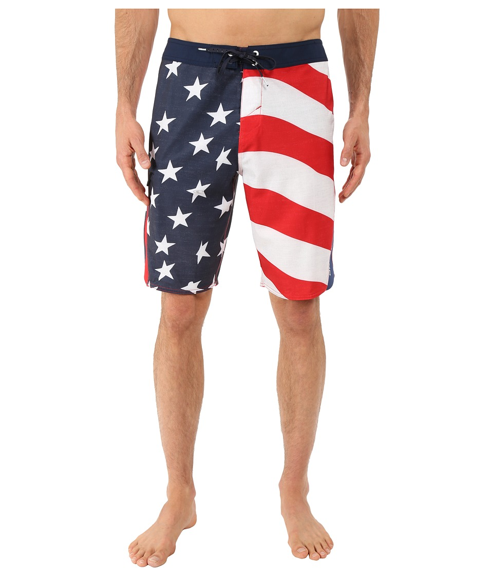 O'Neill - Superfreak Quad Boardshorts (Red) Men's Swimwear