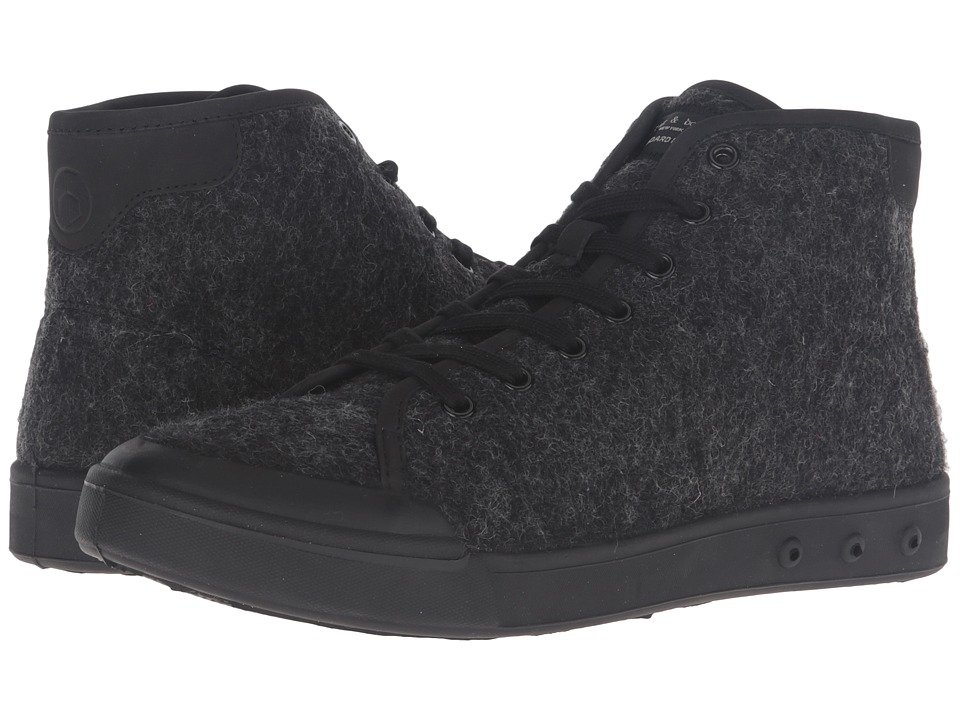 rag & bone - Standard Issue Wool High Top (Black Wool) Men's Shoes