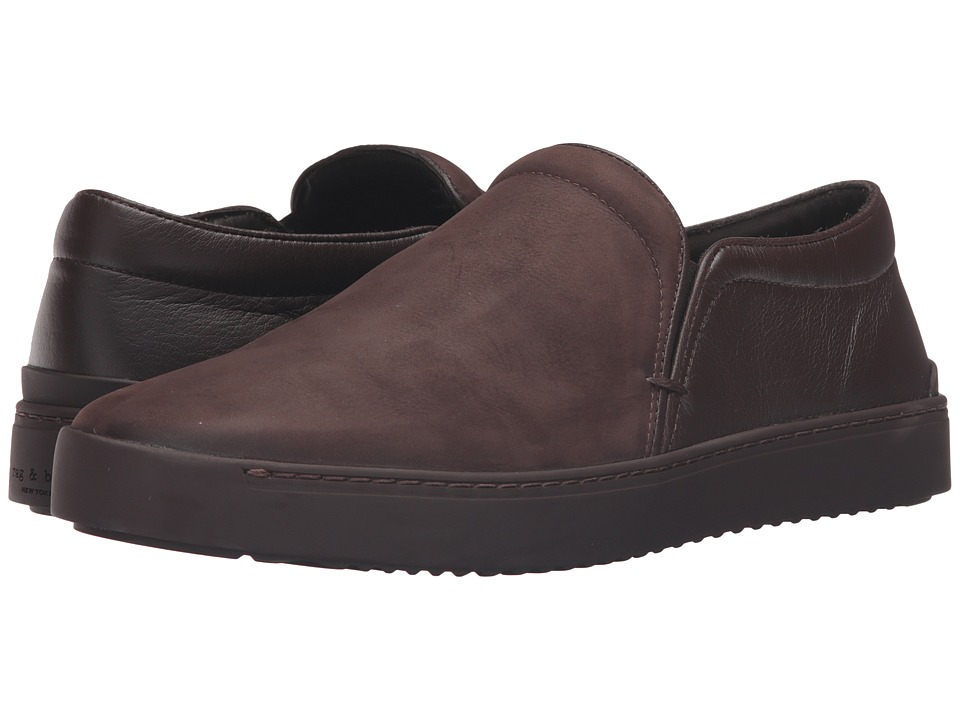 rag & bone - Limited Edition Matte Kent Slip-On (Brown Matte) Men's Shoes
