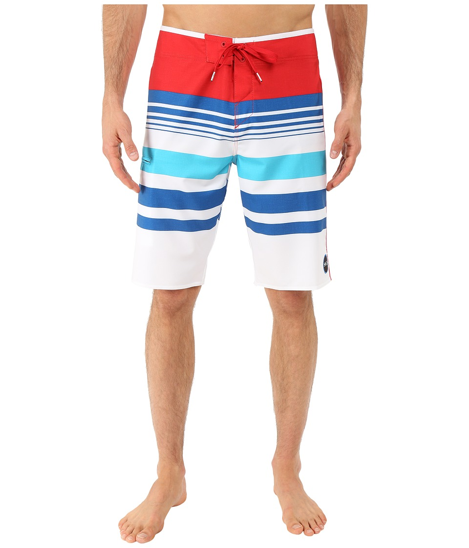 O'Neill - Hyperfreak Heist Boardshorts (Red/White/Blue) Men's Swimwear