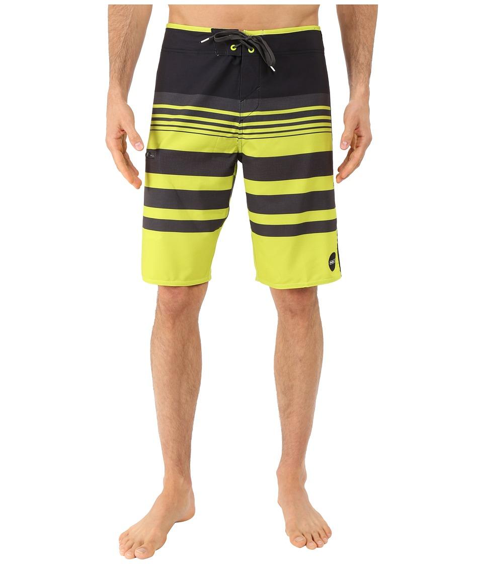 O'Neill - Hyperfreak Heist Boardshorts (Lime) Men's Swimwear