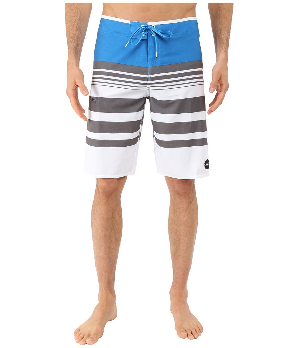 O'Neill - Hyperfreak Heist Boardshorts (White/Blue) Men's Swimwear