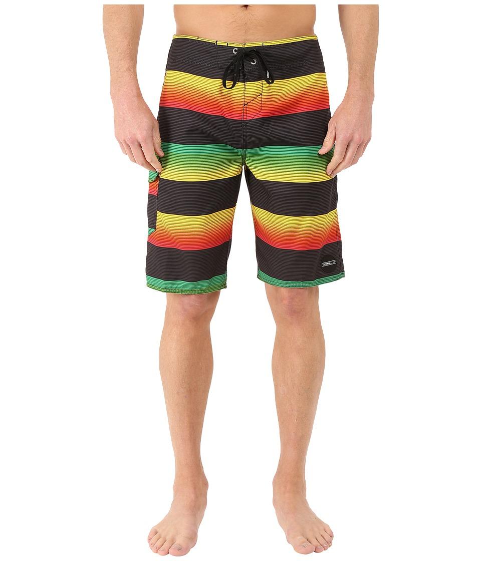 O'Neill - Santa Cruz Stripe Boardshorts (Rasta) Men's Swimwear