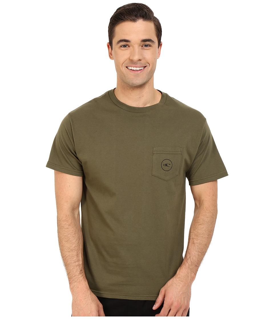O'Neill - Jams Short Sleeve Screen Tee (Olive) Men's Short Sleeve Pullover