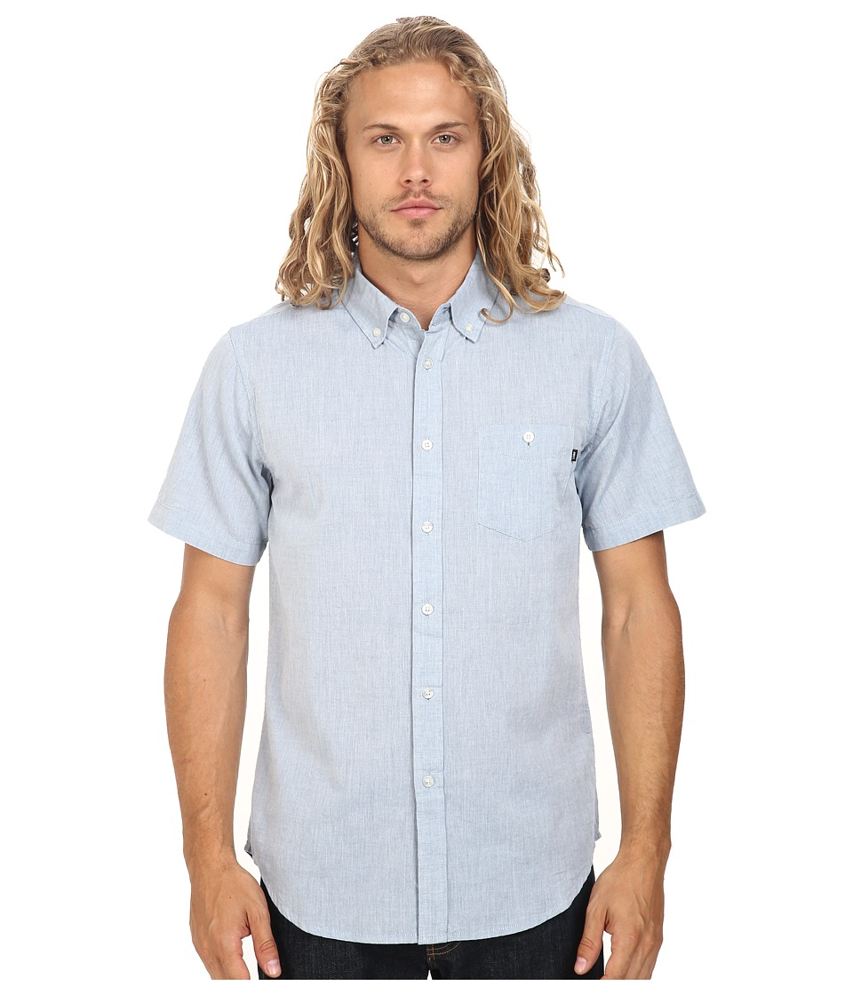 Obey - Capital Woven Short Sleeve (Blue) Men's Clothing