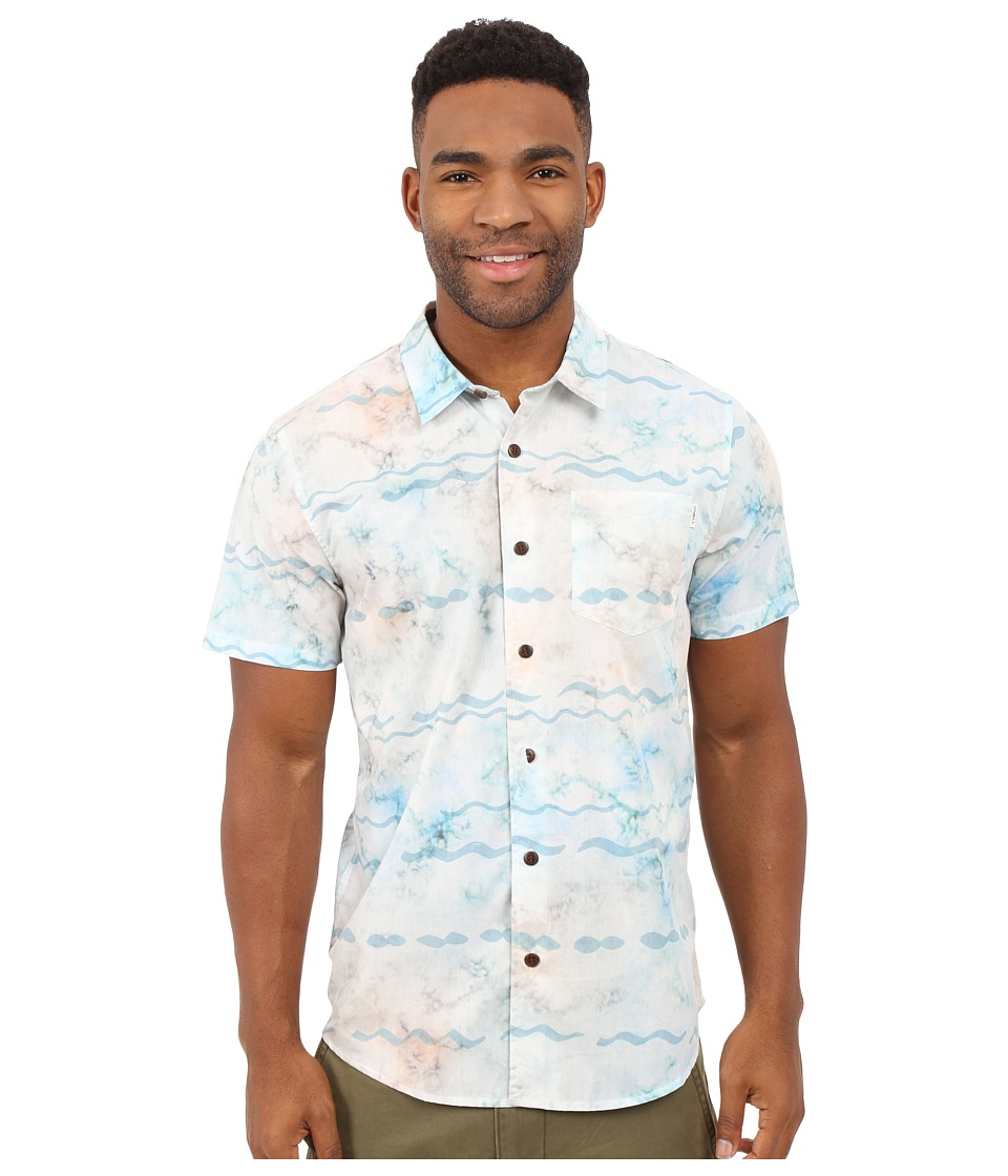 O'Neill - Bronzer Short Sleeve Wovens (White) Men's Clothing