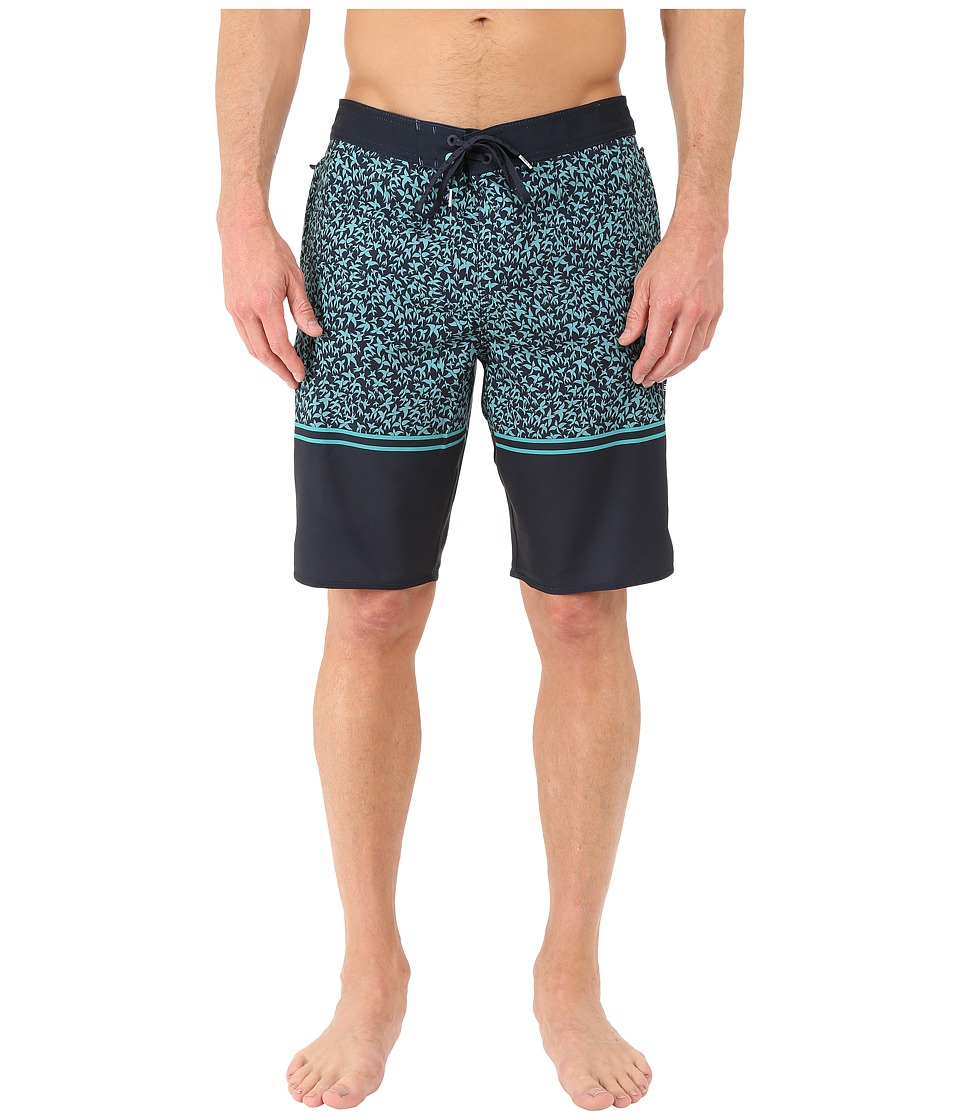 O'Neill - Hyperfreak Burner Boardshorts (Dark Navy) Men's Swimwear
