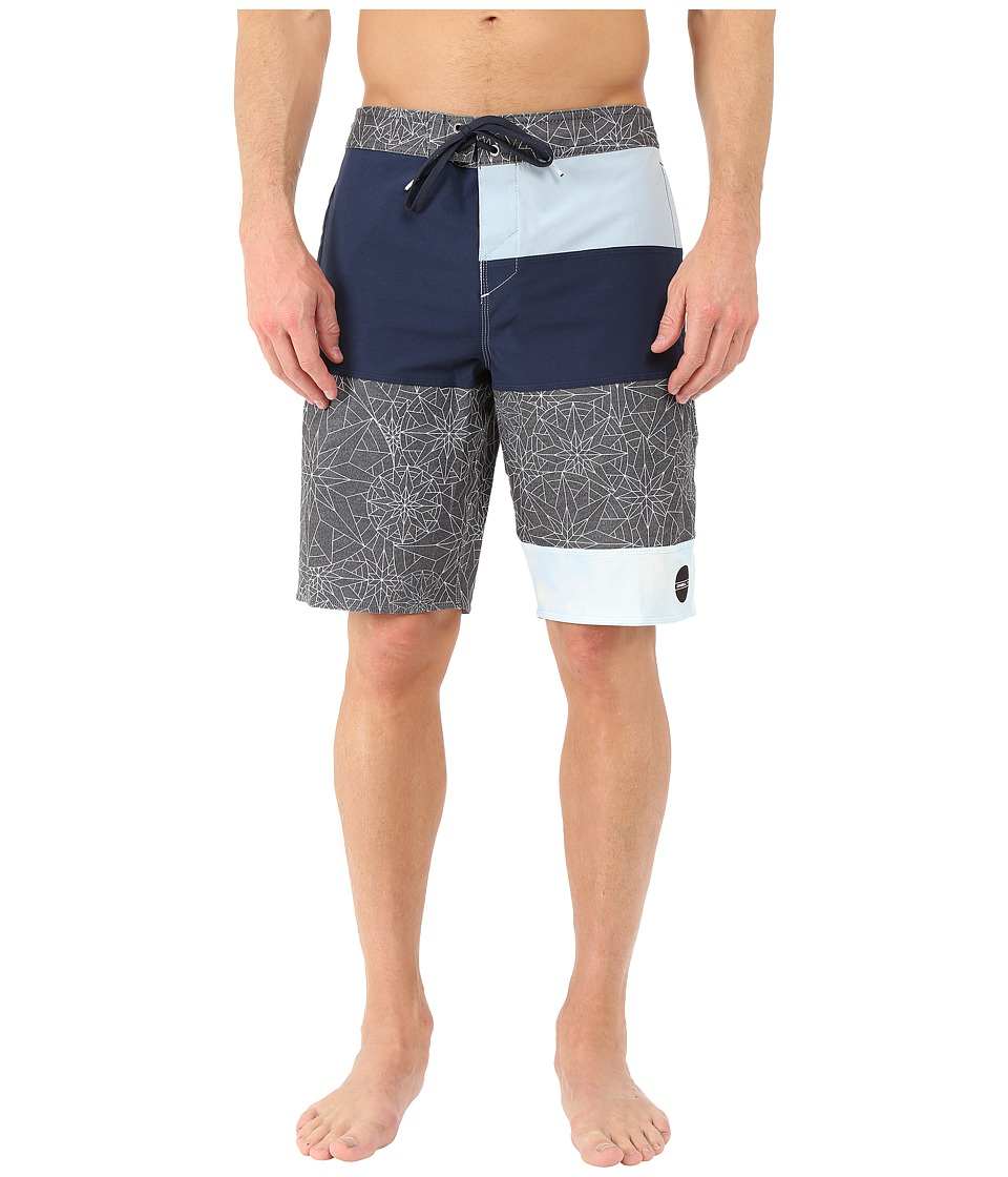 O'Neill - Hyperfreak Explorer Boardshorts (Navy) Men's Swimwear