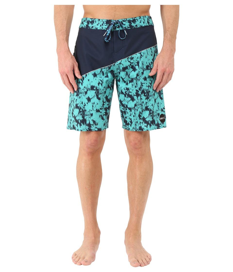 O'Neill - Hyperfreak Oblique 2.0 Boardshorts (Turquoise) Men's Swimwear