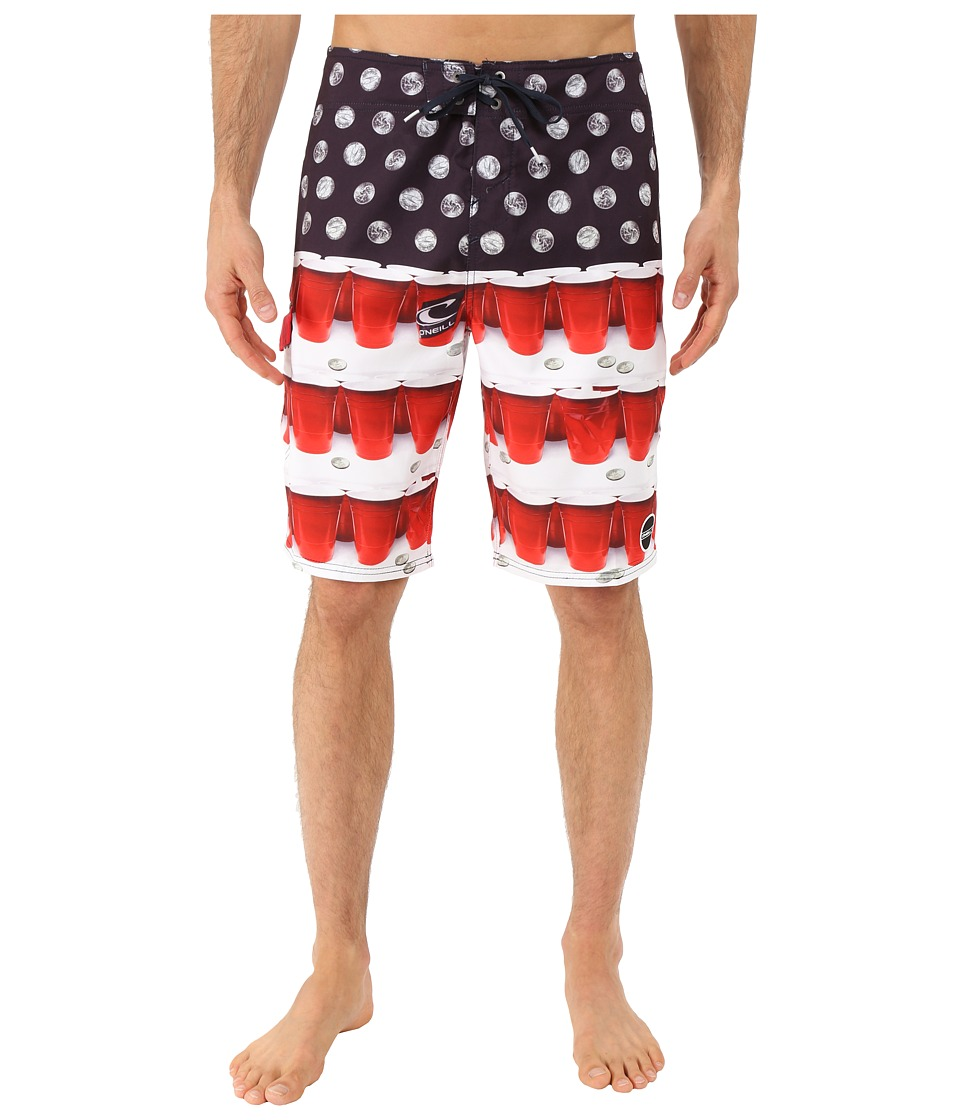 O'Neill - Quarters Boardshorts (Red) Men's Swimwear