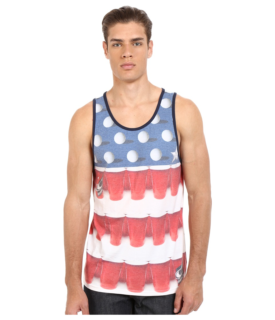 O'Neill - Beerpong Tank Top (White) Men's Sleeveless