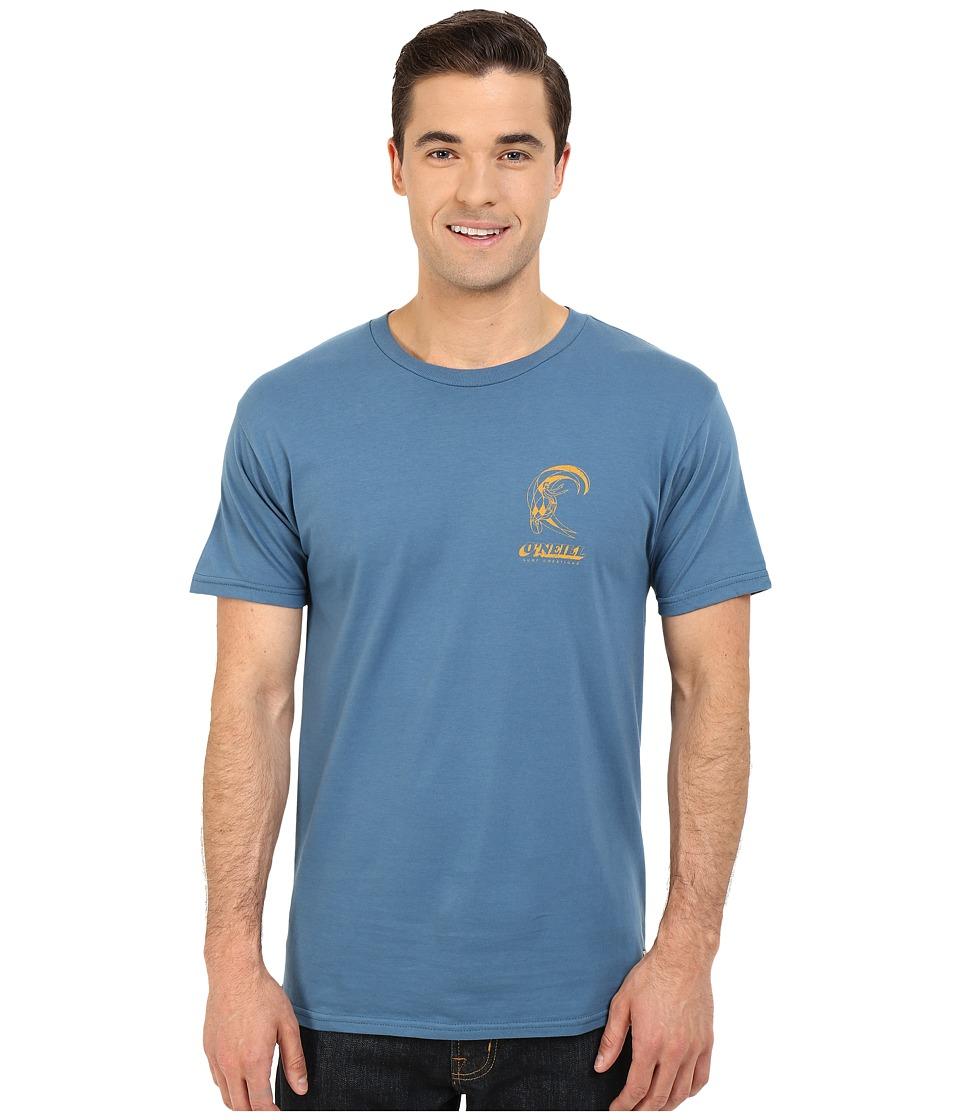 O'Neill - Plumber Short Sleeve Screen Tee (Blue) Men's T Shirt