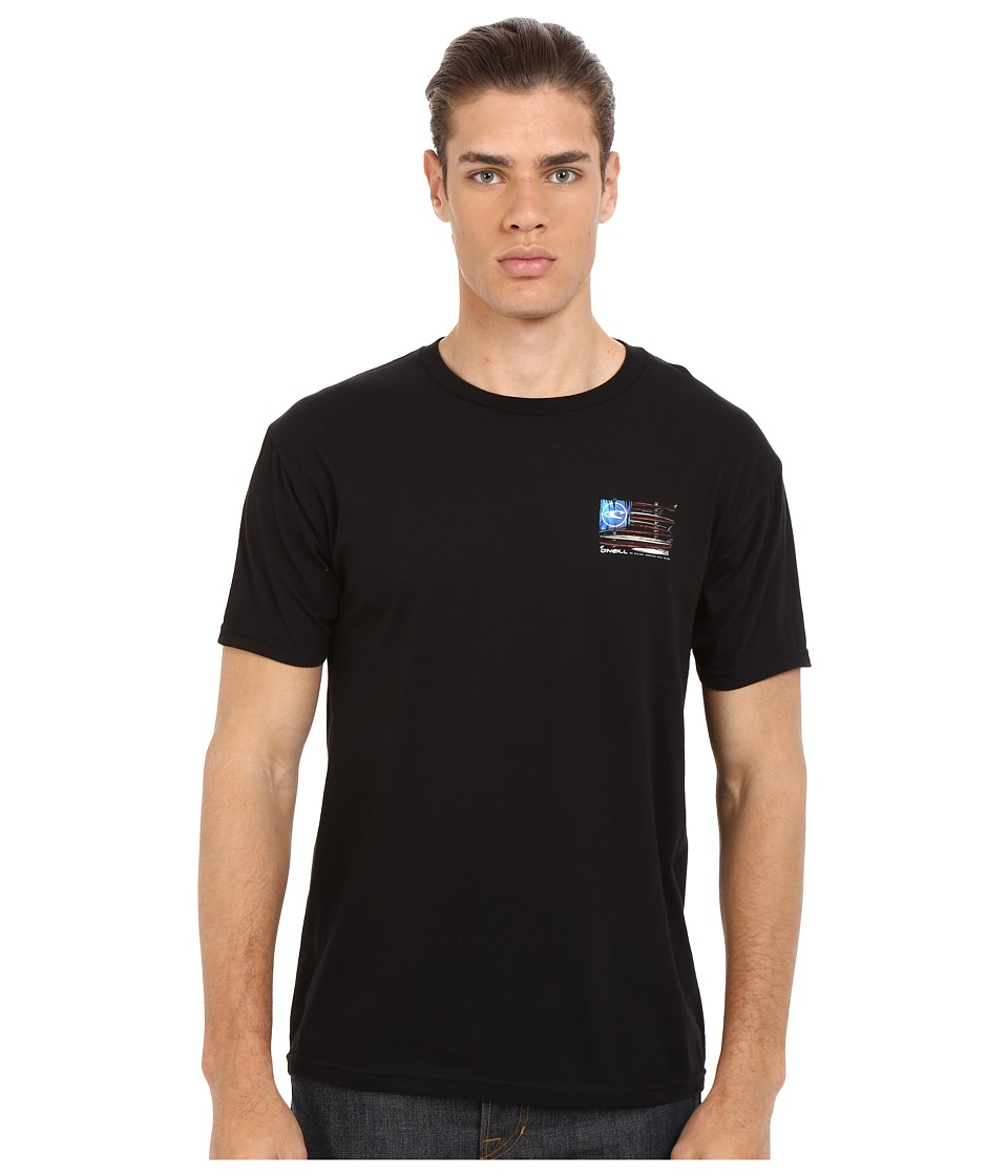 O'Neill - United Short Sleeve Screen Tee (Black) Men's T Shirt