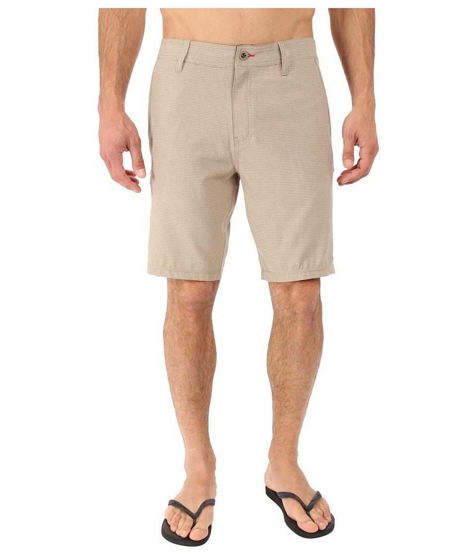 O'Neill - Locked Stripe Hybrid Boardshorts (Khaki) Men's Swimwear