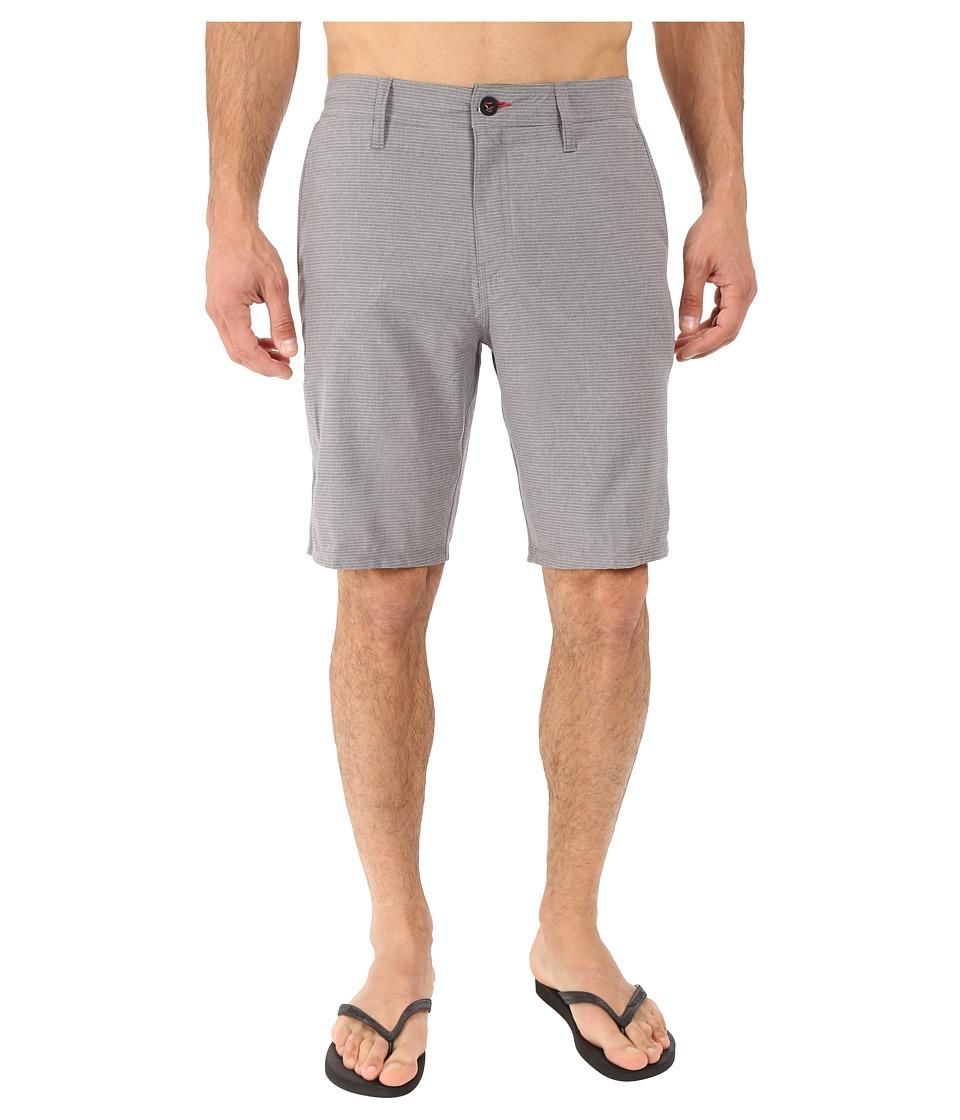 O'Neill - Locked Stripe Hybrid Boardshorts (Charcoal) Men's Swimwear