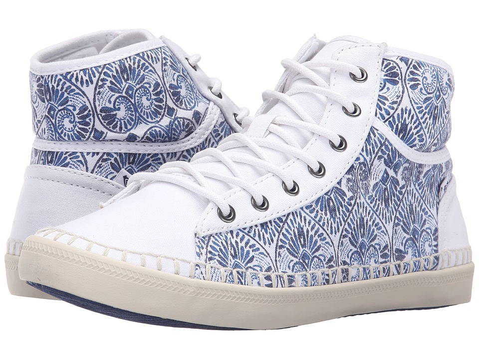 Roxy - Billie Espadrille (Blue/White) Women's Shoes