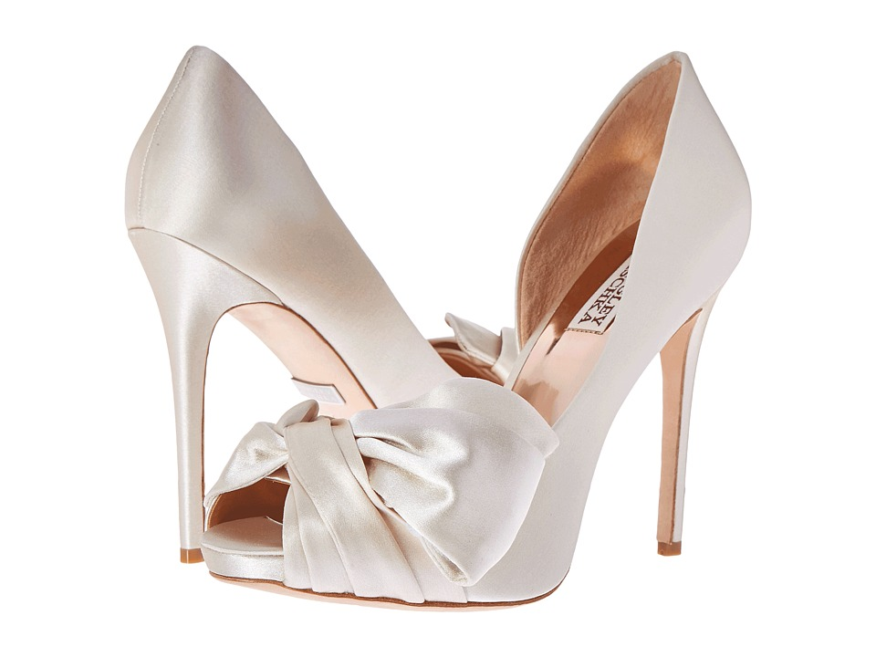 Badgley Mischka - Niara (Ivory Satin) High Heels