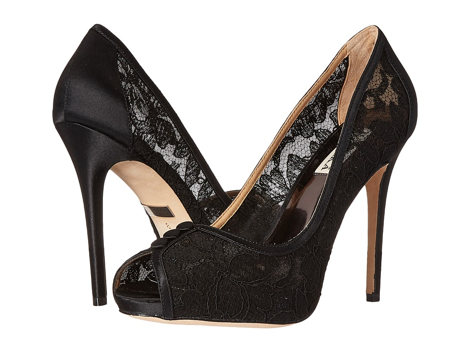 Badgley Mischka - Nerissa (Black Lace) High Heels
