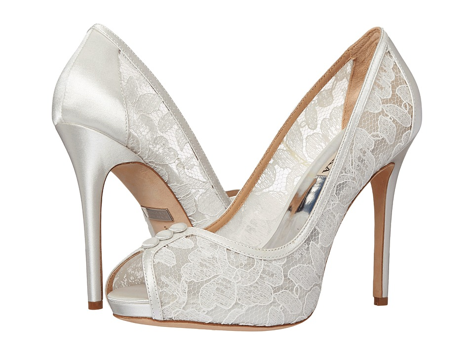 Badgley Mischka - Nerissa (White Lace) High Heels