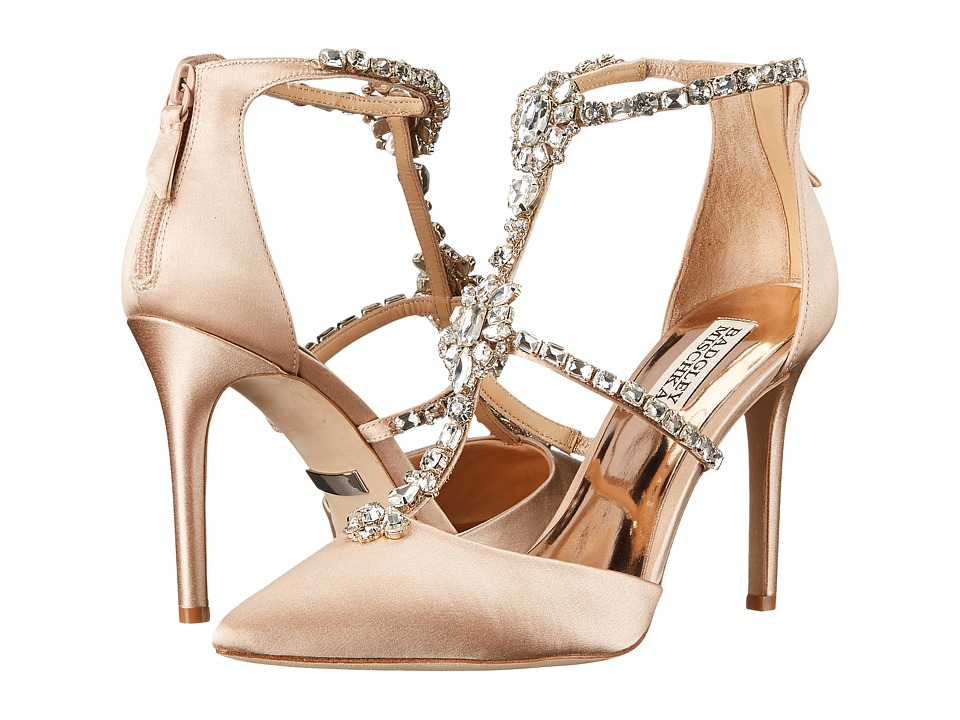 Badgley Mischka - Deker (Latte Satin) High Heels