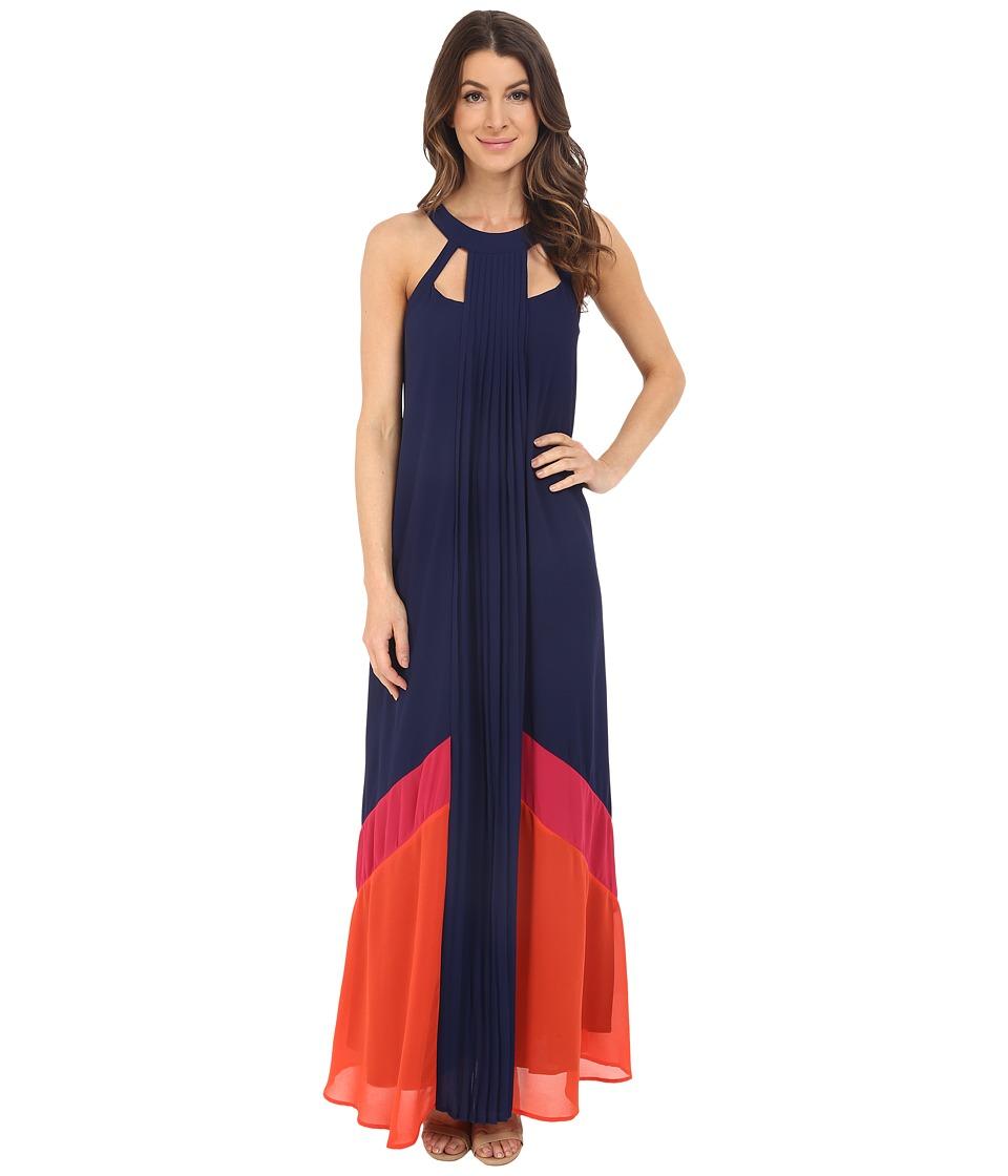 Adelyn Rae - Color Block Maxi Dress (Navy) Women's Dress