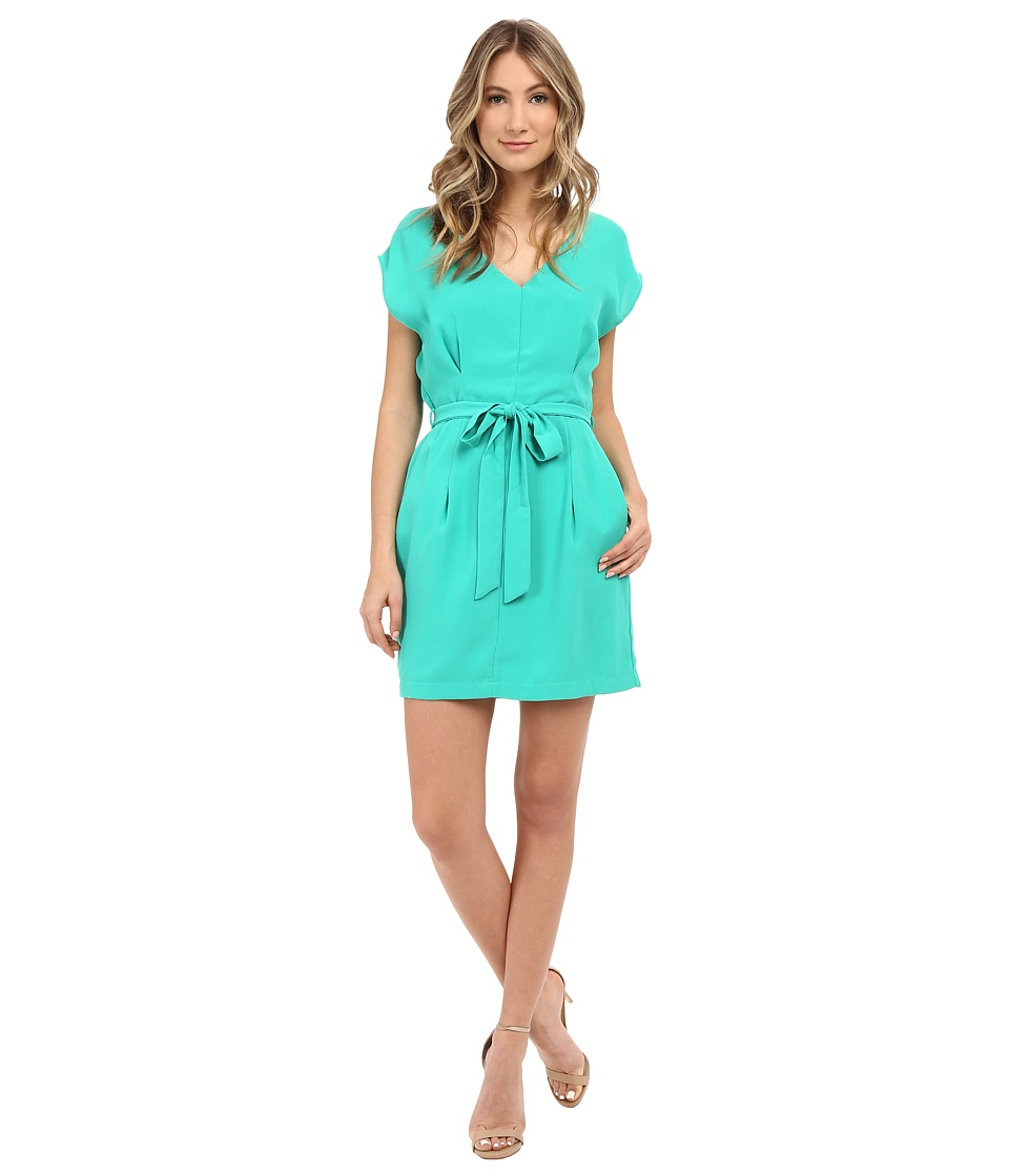 Adelyn Rae - Tie Waste Shirt Dress (Mint) Women