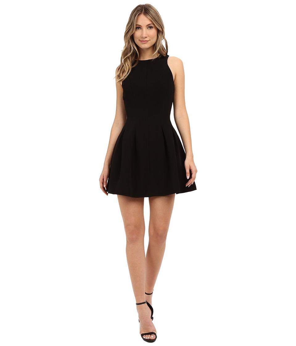 Image of Adelyn Rae - Fit Flare Dress w/ Pleats (Black) Women's Dress