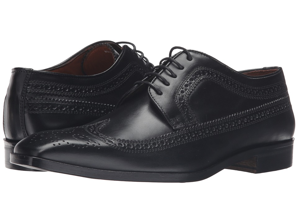 Massimo Matteo - 5-Eye Wing Tip (Black) Men's Lace up casual Shoes