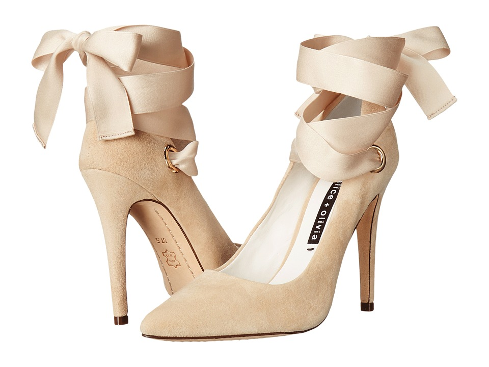 Alice + Olivia - Dominque (Tan Suede/Ribbon) Women's Shoes