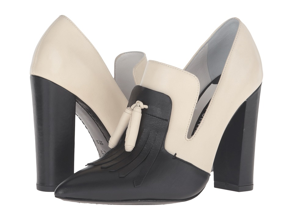 Alice + Olivia - Cade (Black/Bone Fine Calf) Women's Shoes