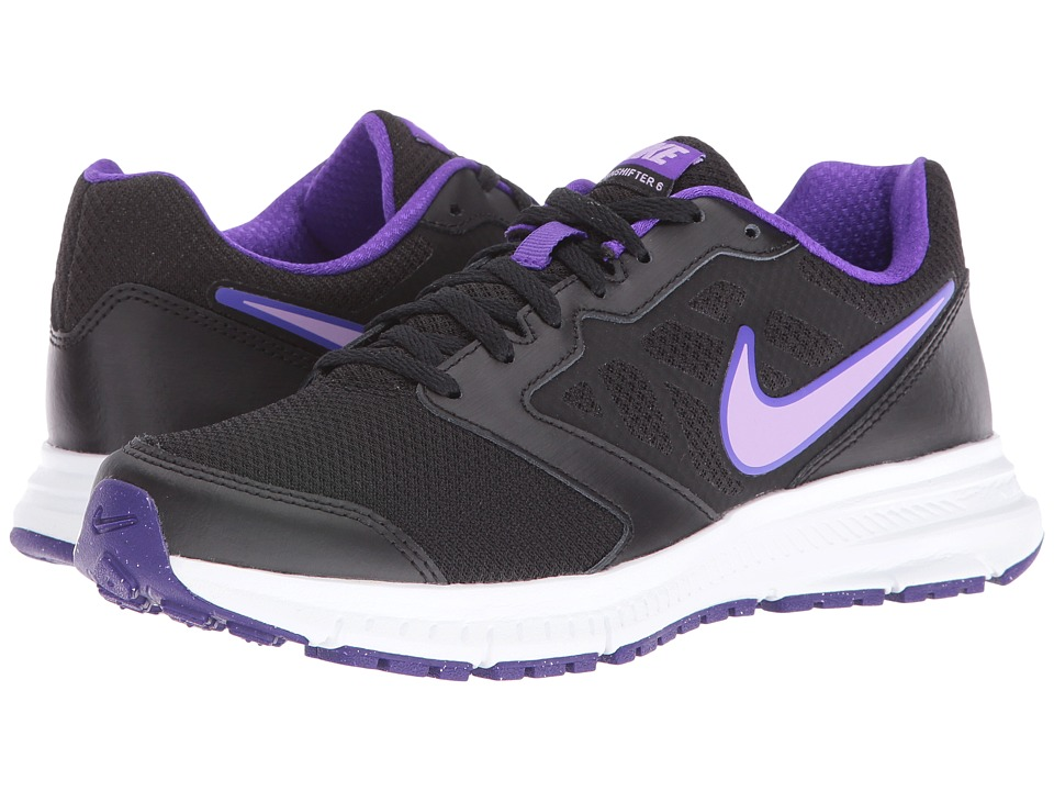 Nike - Downshifter 6 (Black/White/Urban/Lilac) Women's Running Shoes