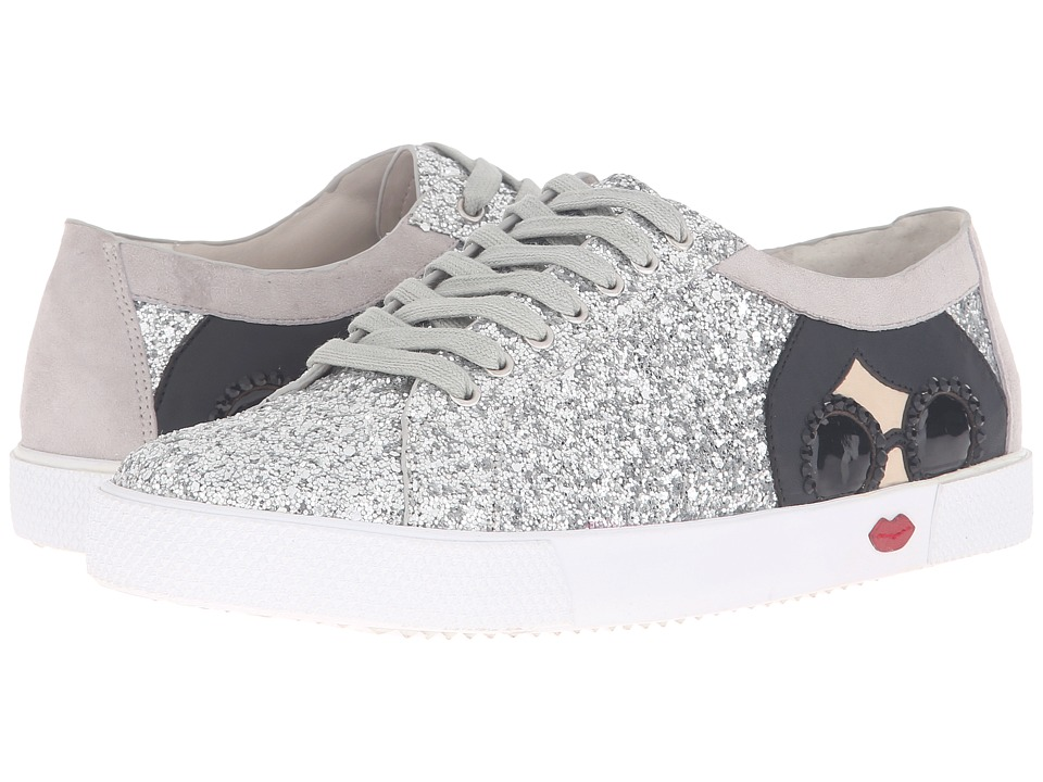Alice + Olivia - Stace Taylor (Multi Silver Glitter/Stone Grey Prime Suede) Women's Shoes