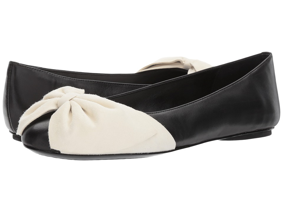 Alice + Olivia Riley (Black Nappa/Bone Suede) Women