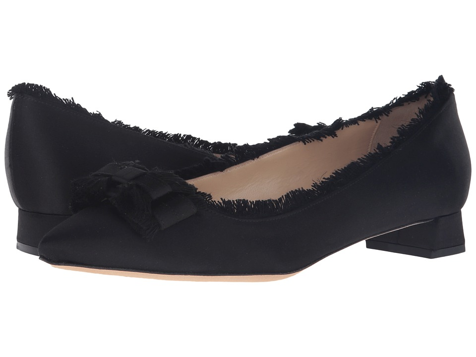 Jerome C. Rousseau - Gall Frayed Bow (Black) Women's Shoes