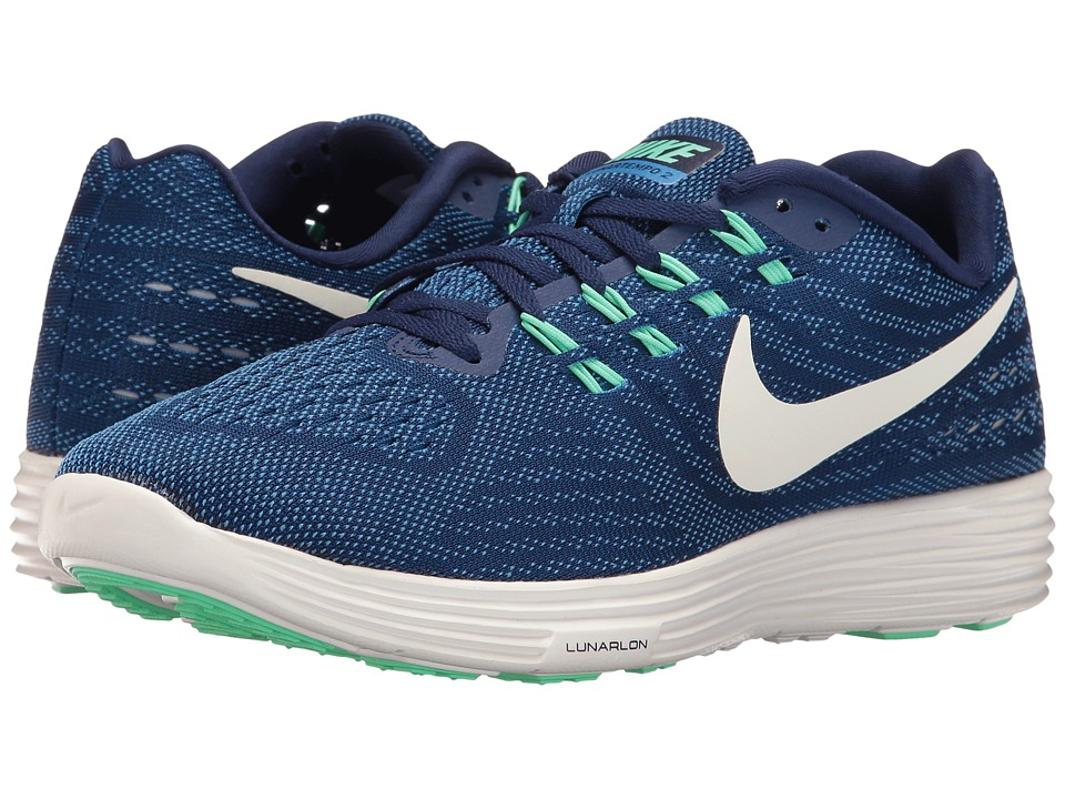 Nike - Lunartempo 2 (Loyal Blue/Fountain Blue/Green Glow/Summit White) Women's Running Shoes