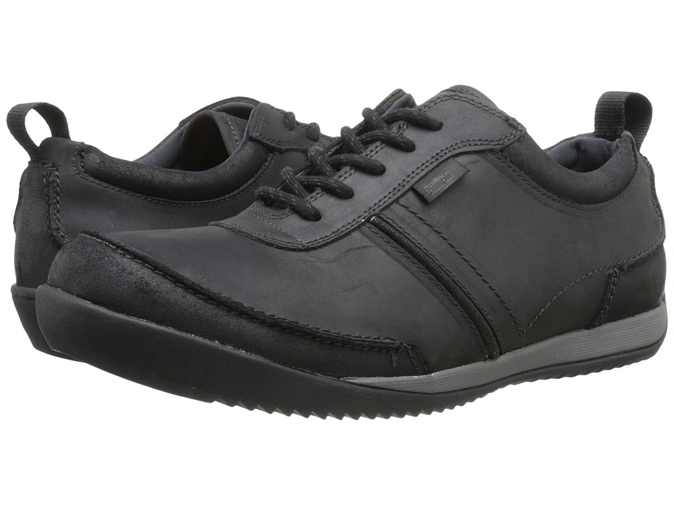Simple - Ascent (Black Leather) Men's Shoes