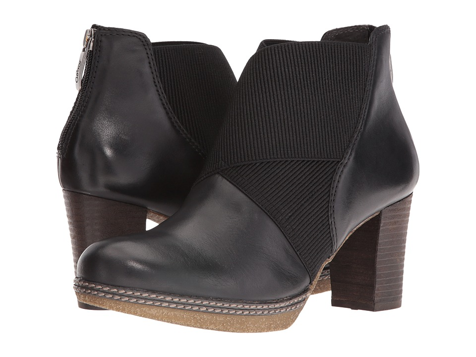 Gabor - Gabor 52.872 (Black Foulard Calf) Women's Pull-on Boots