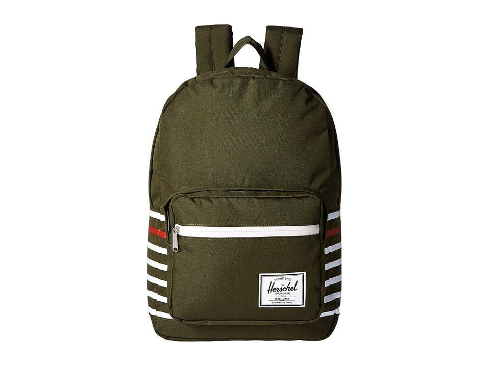 Herschel Supply Co. - Pop Quiz (Forest Night Offset Stripe) Backpack Bags