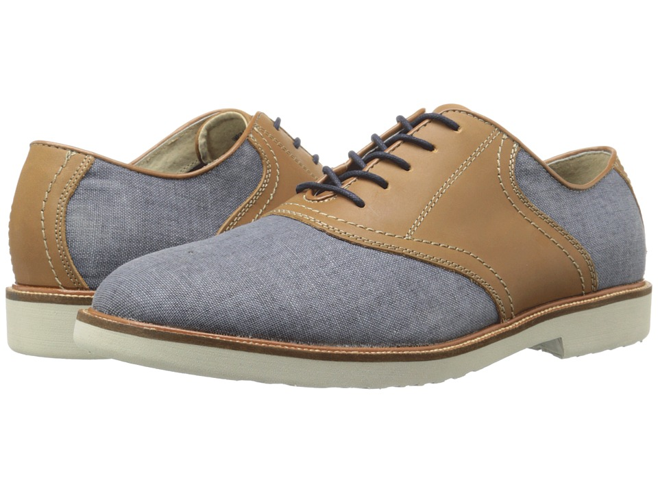 Simple - Impulse 1 (Navy Linen/Tan Waxy Milled) Men's Shoes