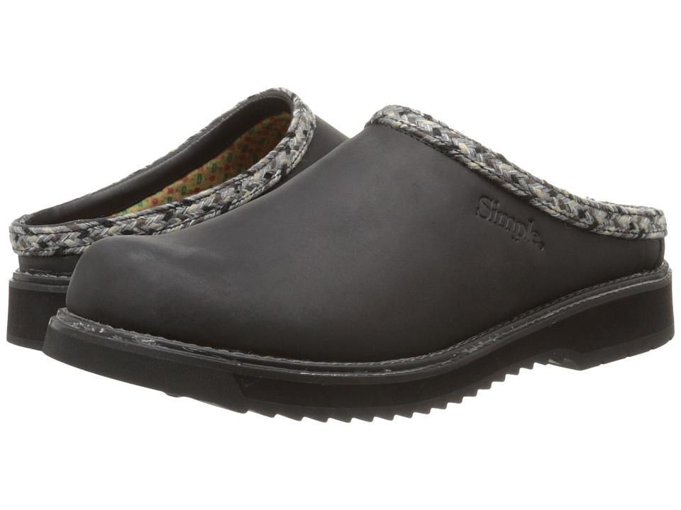 Simple - Mesa (Black Crazyhorse Leather) Men's Shoes