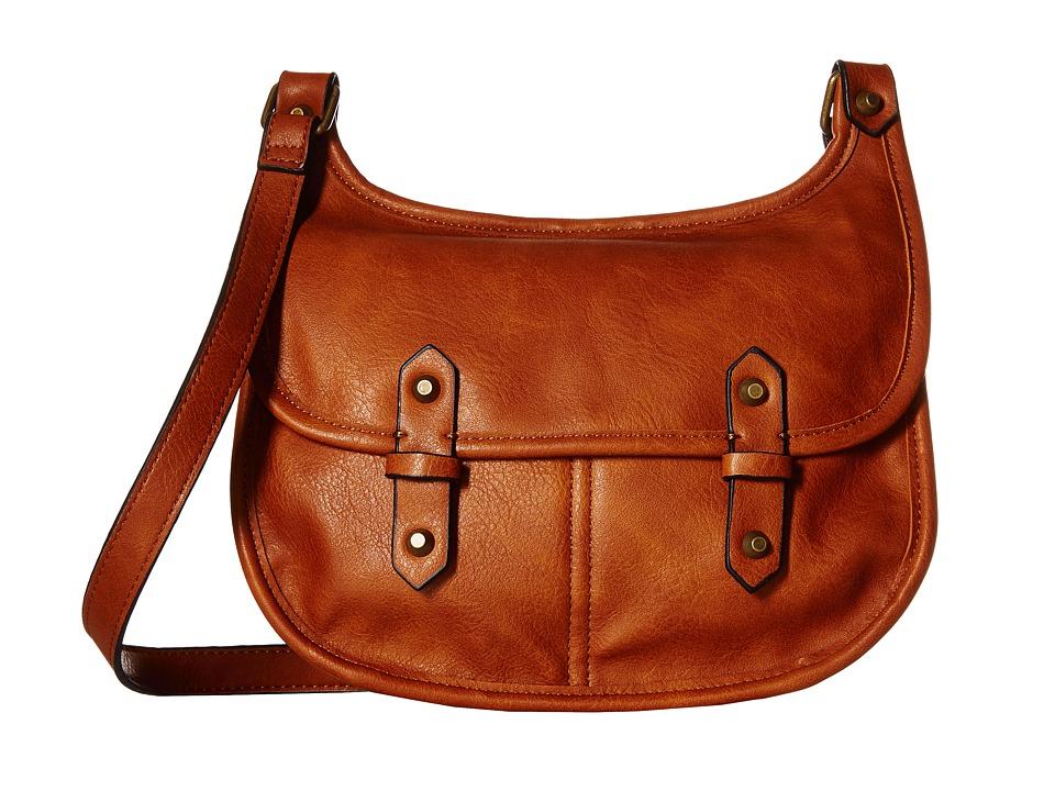Madden Girl - Mggoldyy Crossbody (Cognac) Cross Body Handbags