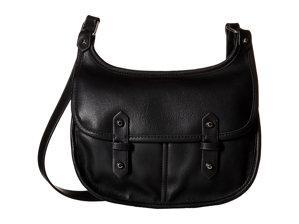 Madden Girl - Mggoldyy Crossbody (Black) Cross Body Handbags