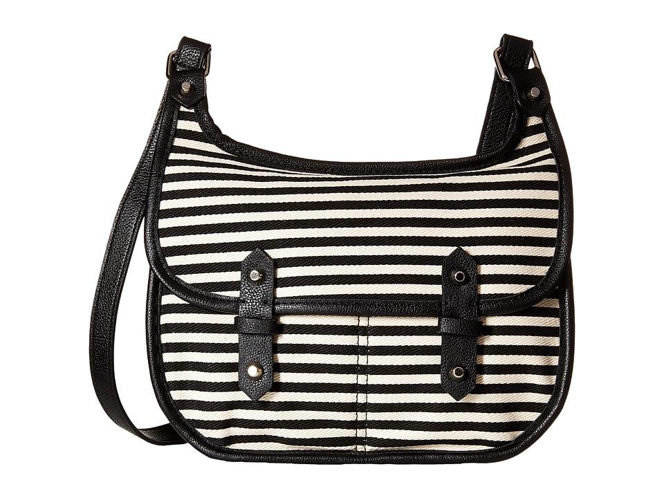 Madden Girl - Mggoldyy Crossbody (Black/Stripe) Cross Body Handbags