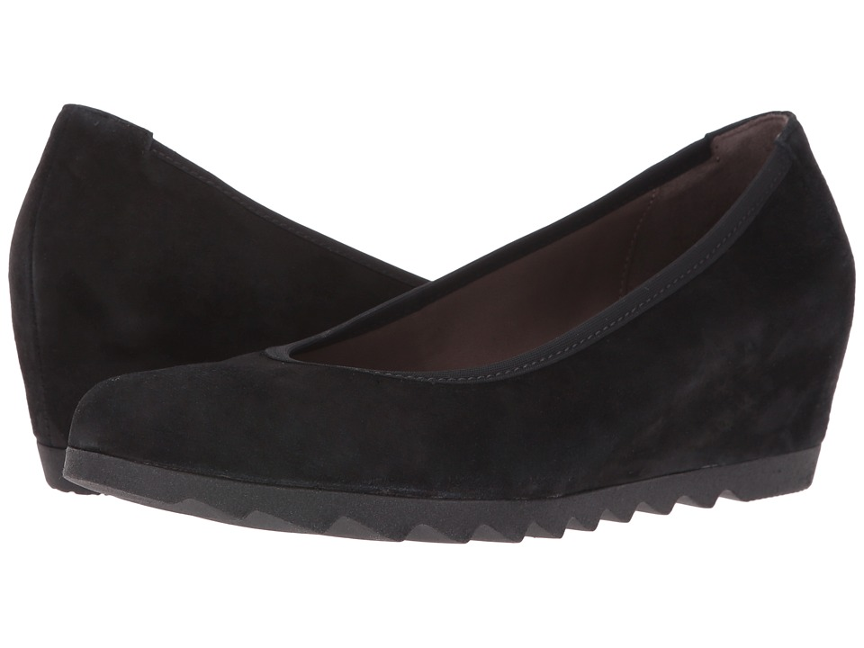 Gabor - Gabor 55.320 (Black Samtchevreau) Women's 1-2 inch heel Shoes