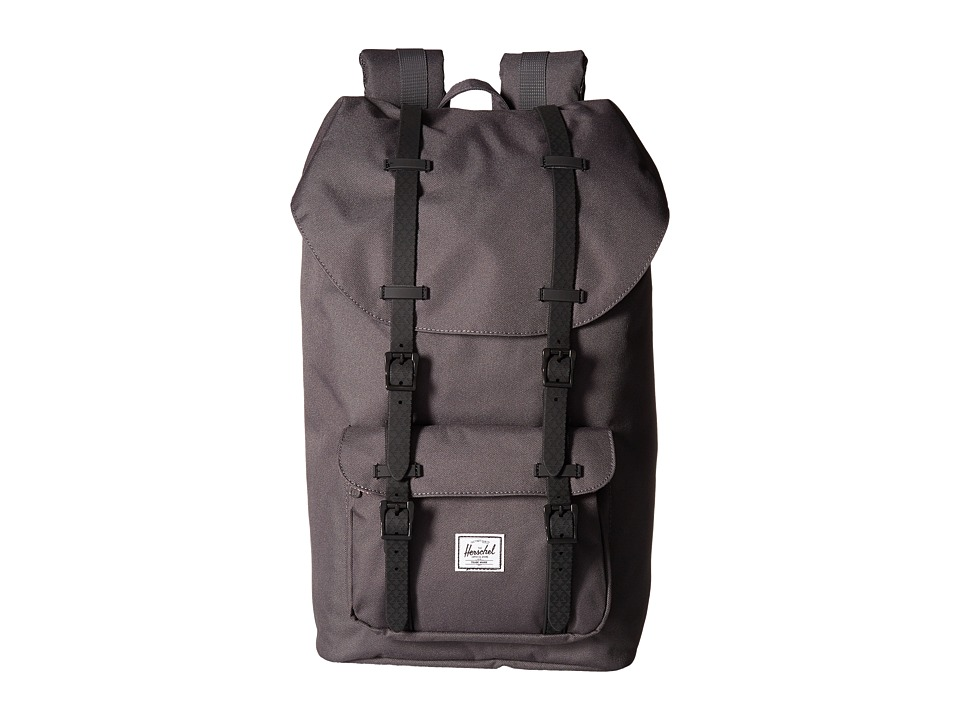 Herschel Supply Co. - Little America (Charcoal/Black Native Rubber) Backpack Bags