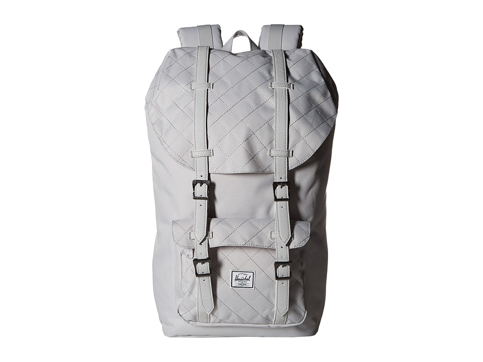 Herschel Supply Co. - Little America (Lunar Rock Quilted/Lunar Rock Synthetic Leather) Backpack Bags
