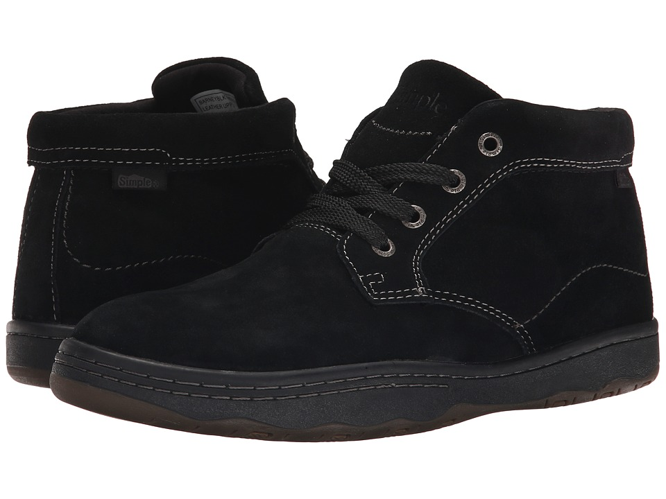 Simple - Barney (Black Suede) Men's Classic Shoes