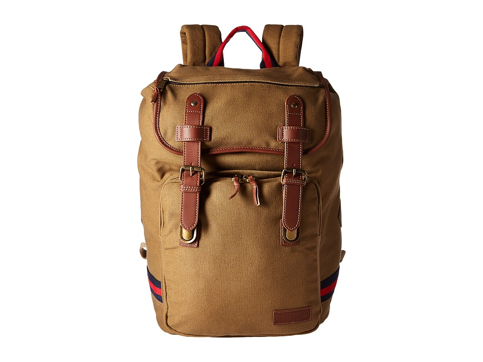 Tommy Hilfiger - Workhorse Canvas Backpack (Khaki) Backpack Bags